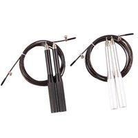 Wholesale 3 Meters Fitness Crossfit Skipping Rope Steel Wire Skipping Adjustable Strong Metal Speed Jump Rope Fitness Equipment