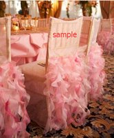 asia and europe - Sample Of Wedding Chair Covers Ruffles Organza Wedding Accessories Chair Sashes