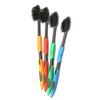Wholesale C Double Ultra Soft Toothbrush Adults Odontologia Bamboo Charcoal Nanometer Toothbrush Oral Care
