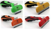 Wholesale 4 inch latest style Pet Shedding Brush Dog cat Grooming Comb Hair Health Drop shipping OEM brand