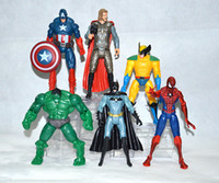 Wholesale The Avengers Captain America Spiderman Thor Batman Hulk Wolverine Action Figures Toy PVC Figure cm set