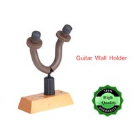 wooden base - Guitar Holder Guitar Wall Hanger Hook with Rubber Arms Wooden Base Universal for Guitar Bass Ukelele New Arrival I681