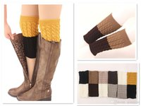 Wholesale IN STOCK Women crochet Knitted Boot Cuff color Crochet leg warmers Boot Cuff fashion Knitted Leg Warmers new Boot Cuff B184