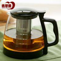 Wholesale Green Apple resistant glass teapot tea teapot filter large flower pot stainless steel liner ml