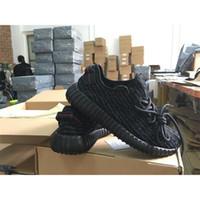 Wholesale 2016 Yeezy Boost Pirate Black Color Fashion Men Women Running Shoes With Original Shoes Box Bag receipt