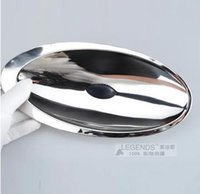 Wholesale Multi function double layer stainless steel cocoon shape candy tray pastry plate fruit bowl