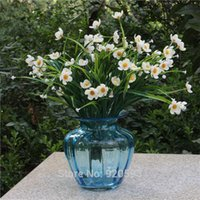 artificial narcissus - HI Q cm heads Artificial Flowers narcissus silk flowers colors Home decorations for wedding simulation of plants