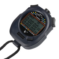Wholesale Professional Electronic Digital Running Sport Chronograph Stopwatch Stop Watch Counter Black Drop Shipping