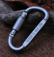 aluminum equipment - Travel Kit Camping Equipment Alloy Aluminum Lock Survival Metal Gear Camp Mountaineering Hook Aluminum Alloy D Shape Carabiner