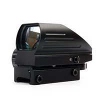 Wholesale Holographic Red and Green Dot Sight Tactical Reflex with Reticles Black Color Free ePacket Shipping