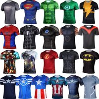 batman long sleeve t shirt - Batman Superhero Captain America Marvel Comics Costume Cycling Tee T Shirts Short Sleeve Bicycle Jersey long sleeves S XXXL DHL FREE