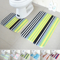 Wholesale Wholesales Bathroom Products Toilet Floor Mats Set Non Slip Bathroom Toilet Rugs Water Absorption Bathroom Carpet JI0018 Salebags
