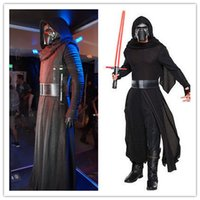 Wholesale High Quality Star Wars Cosplay Adult Kids Kylo Ren Cosplay Hooded Cape Cloak Costume Mask Set Halloween Gift