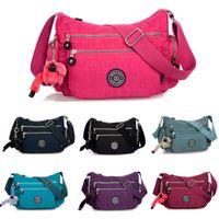 nylon waterproof zipper - JINQIAOER Fashion Women Nylon Crossbody Bag Multifunction Waterproof Multiple Zipper Pockets Solid Shoulder Bag Bolsas Feminina B0088