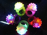 Wholesale Christmas Party LED Soft Jelly Glowing Decorative Finger Rings Light Flashing Ring Light Christmas Birthday Kids Light up Toys