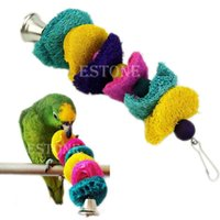 Wholesale BIRD TOY parrot cage toys cages cockatoo conure Loofah Sponge Bite resistant order lt no track