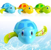 Wholesale Top quality New born babies swim turtle wound up chain small animal bath toy classic toys