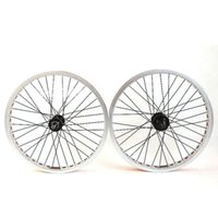 Wholesale STARS Bike Bicycle Wheels Cycling Racing Double Wall Rim quot BMX Wheels Wheelsets ZJS800 Silver