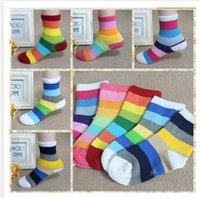 apparel and accessories - Apparel amp Accessories Baby Clothing Socks pair rainbow striped cotton socks for children boys and girls baby cotton