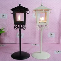 Wholesale wedding Iron Candlestick classical kiosk creative home crafts European style garden glass lantern