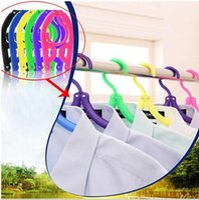 Outdoor plastic pants - Portable Travel Clothes Hanger Foldable Drying Hanger Cloth Hook Space Saving Folding Plastic Hanger Drying Hanger Clothes Peg LJJE440 pc