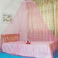 Wholesale New Dome Elegent Lace Summer House Bed Netting Canopy Circular Mosquito Net Sale OBX