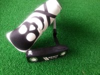 Wholesale freeshipping brand new skull golf club steel shaft putter right hand with headcover