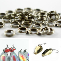 Wholesale 6mm mm mm Nickel Plated Split Rings for Blank Lures Crankbait Hard Bait For Each Pack Bass Walleye Fishing