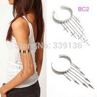 arm spikes - Punk Gothic Silvery Spike Rivet Cross Chain Arm Bracelet Cuff Armband Armlet BC2
