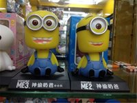 baby shake head - New Despicable Me Minions Minion Figure Baby Toy Head Shaking Toy Car Decoration with Box