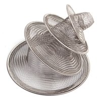 Wholesale New Stainless Steel Filter Bath Hair Trap Stopper Mesh Sink Strainer Drain Stopper High Quality Kitchen Bathroom Tools BZ673914