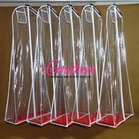 Wholesale PVC cm Transparent Wedding Dress Dust Cover Omniseal Extra Large Waterproof Solid Wedding Garment Bag