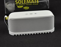 big wholesale - HOT SELLING solemate super bluetooth portable speaker Rubber Soles big sound wireless speaker family Use portable Colorful speaker