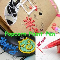 puffy paint - Popcorn Paint Pen Puffy Embellish Decorate Bubble Graffiti DIY Stationery Good Gift for Children