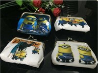 Purse baby me party supplies - Despicable Me Minion Baby Coin Purses kids cartoon wallet chilldren money bag party supplies Kids gift bag PVC