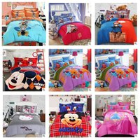 baby duvets - 5SET LJJH845 Cotton Baby kid Cartoon Mickey KT princess Bear Pattern Bedding Set bed linens bed cover duvet cover Home Textile