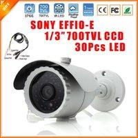 al por mayor líneas de tv cctv-1/3 700 TV líneas Sony Effio-e 700TVL CCD seguridad CCTV impermeable al aire libre cámara con menú OSD