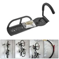 bicycle storage stand - Bicycle Bike Cycling MTB Storage Garage Wall Mounted Mount Hook Rack Holder Hanger Stand Steel Black Durable B062