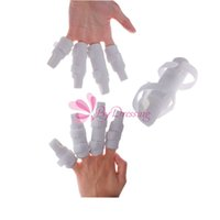 Wholesale 10pcs New Finger Splint Two Sided Curved Foam Protector Brace Support With Strap