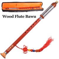bawu flute - Vertical Chinese Flute Bawu Wood Flauta Professional Wind Musical Instrument G F key Padauk Traditional instrumento with Case