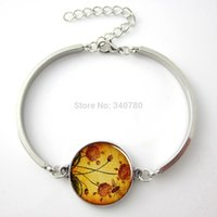 bee link bracelet - 1 pc adjustable bangle bracelet Honey Bee Garden pendant honeybee bangle glass charm bracelet bangle