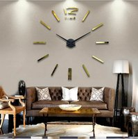adjustable wall mirror - Adjustable Mirror acrylic clock Large Mental D Big Size Decor Sticker DIY D Wall Clock Decorative clocks horloge murale watch clock