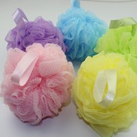 Wholesale Candy color Bath Shower Body Wash Puff Sponge soft Mesh Net Bath Ball very Comfortable online shopping favor