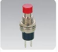 al por mayor rojo interruptor de botón momentáneo-20pcs PBS-110 AC 250V 1A 2 Pin SPST Apagado / (ON) NO Normalmente abierto Mini Momentary Primavera Retorno Botón Interruptores Cabeza Roja