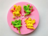 Wholesale Silicone soap mold angel design fondant sugar cake decoration biscuit styling tools cookie