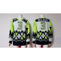 Wholesale Russell Wilson Football Sweater Fashion American Football Outerwear Thematic Ugly Sweater Cool Players Sweaters Pullover Sweatshirt