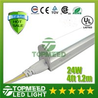 Cheap CE UL Integrated 1.2m 4ft T5 22W Led Tube Light 96Leds 2400lm Led lighting Replace Fluorescent Tubes Lamp lights +Warranty 3Years X25