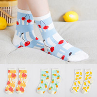 Wholesale A078 cotton socks socks Android products Korea sweet candy colored Plaid Cotton Socks fruit