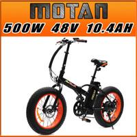 folding bike - PRE SALE Addmotor MOTAN Cycling M Sport Orange FOLDING Fat Tire E Bike Matte Black W V AH quot Electric Bicycle