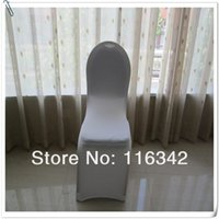 Wholesale 20Pcs white polyester spandex chair cover for banquet chair weddings lycra chair cover banquet chair cover